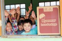 CFPA Myanmar office launches and distributes Myanmar Love Packages to primary school students